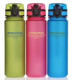 Varmora Water Swig 500 ML Multicolour Sippers - Set Of 3