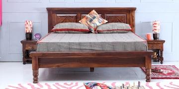 Vayaka Queen Size Bed In Provincial Teak Finish