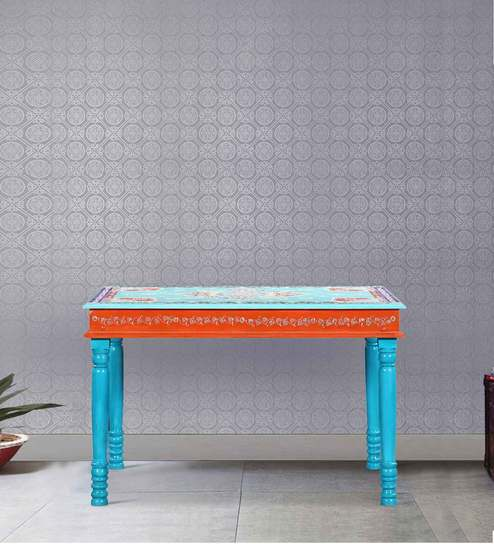 Vanya Hand Painted Four Seater Dining Table By Mudramark Part 38