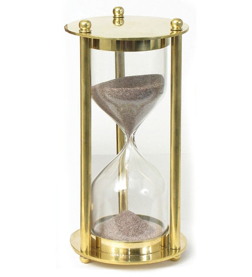 sand timer art. variety arts golden one minute sand timer art