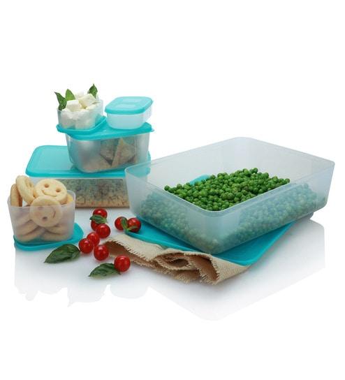 Varmora Freezer Safe Full Blue Containers - Set of 6