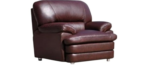 Valencia One Seater Leather Sofa In Dark Brown Colour By Godrej