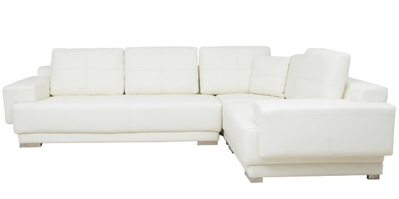 Valencia Sectional Corner Sofa in White Colour by Star India