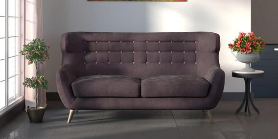 Valencia Three Seater Sofa in Cedar Brown Colour by CasaCraft