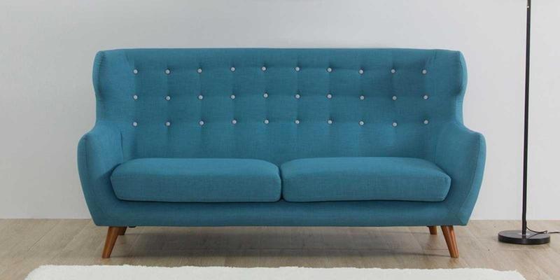 Valencia Three Seater Sofa in Ocean Blue Colour by CasaCraft
