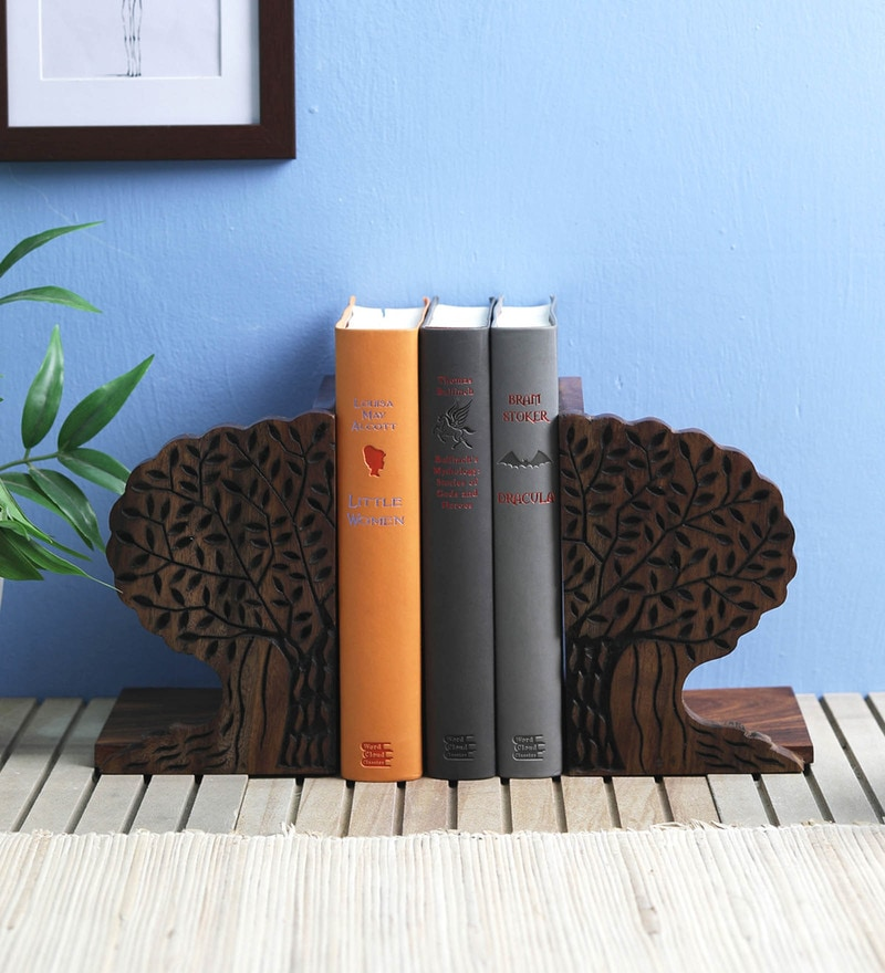 VarEesha Banyan Tree Sheesham Wood Book End