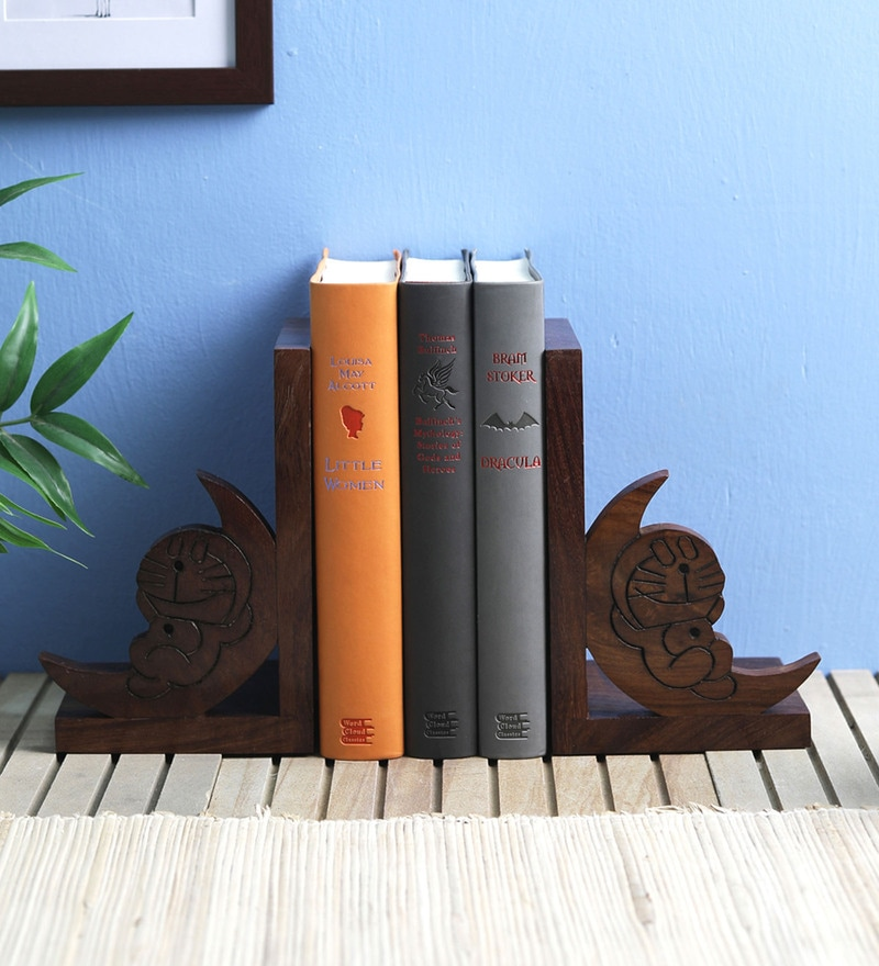 VarEesha Doremon Sheesham Wood Book End