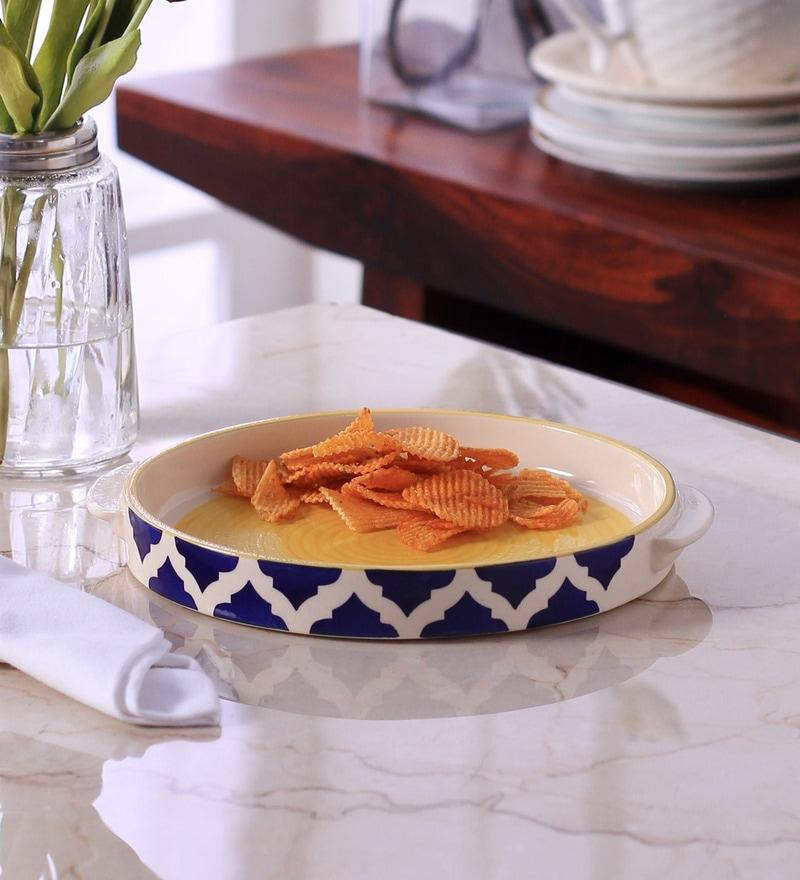 VarEesha Hand Made Ceramic Pizza Plate