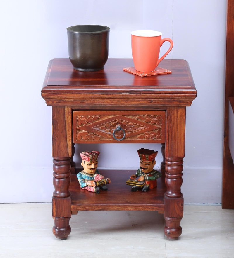 Vayaka Bedside in Honey Oak Finish by Mudramark