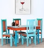 Vanya Hand Painted Four Seater Dining Set by Mudramark