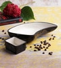 VarEesha Black Ceramic Snack Serving Dish with Dip Bowl - Set of 4