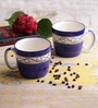 VarEesha Blue Ceramic 300 ML Soup Mug Set