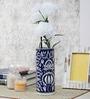 Vareesha Blue Ceramic Mughal Handmade Vase