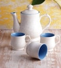 VarEesha Ceramic Cups and Pot - Set of 7