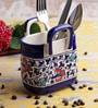 VarEesha Ceramic Blue Cutlery Holder Basket