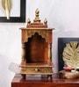 Vareesha Copper & Gold Wooden Temple