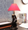 VarEesha Cream Fabric Table Lamp