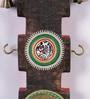 Brown & Gold Mango Wood & Brass Dhokra Vertical Key Hook Panel by VarEesha