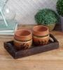 Vareesha Handpainted Kulhad Mugs - Set of 4