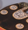 Vareesha Ethnic Mango Wood & Brass Small Serving Tray - Set of 2