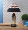 VarEesha Black Fabric Table Lamp