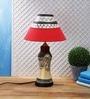 VarEesha Red Fabric Table Lamp