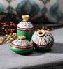 VarEesha Multicolour Terracotta Warli Miniature Showpieces
