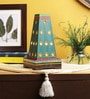 VarEesha Green Wood Desk Lamp