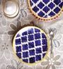 VarEesha Hand Crafted Blue Ceramic Quarter Plates - Set of 6