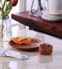 VarEesha Hand Crafted Brown Ceramic Serving Plate with Sauce Dish