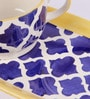 VarEesha Blue Ceramic 300 ML Handmade Soup - Set of 3