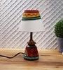 Cream Fabric Table Lamp by VarEesha
