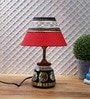 Red Fabric Table Lamp by VarEesha