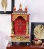 VarEesha Multicolour Wooden Jaipuri Small Temple