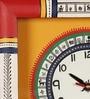 VarEesha Multicolour Wooden Traditional Wall Clock