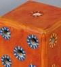 VarEesha Orange Mdf Handmade Dice Pen Stand