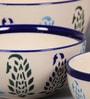 VarEesha Paisley Ceramic Serving Bowls - Set of 4
