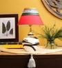 Red Fabric Lamp Shade by VarEesha