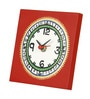 Vareesha Red Wooden Handcrafted Table Clock