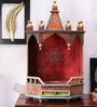 Vareesha Wooden Jaipuri Hand Painted Temple
