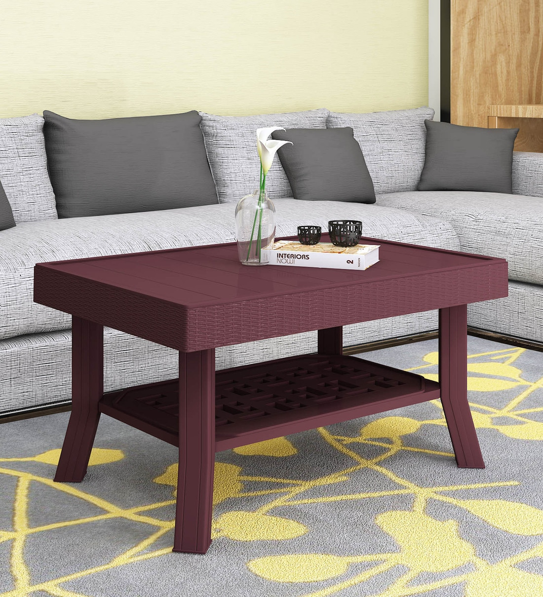 Buy Vegas Center Table In Brown Colour By Supreme Online Contemporary Rectangular Coffee Tables Tables Furniture Pepperfry Product