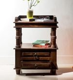 Vemaki Bed Side Table in Provincial Teak Finish