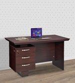 Vento Three Drawer Study Table in Mahogany Finish