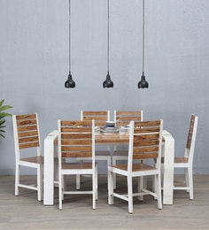Verona Six Seater Dining Set In Distress Finish