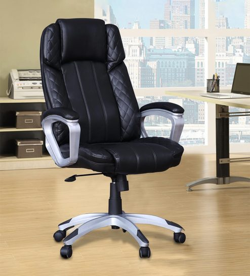Super Ventura Executive Chair In Black Color By Hometown Home Interior And Landscaping Palasignezvosmurscom