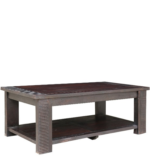 Venus Solidwood Center Table In Brown Colour By HomeTown
