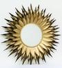 Gold Metal Sun Mirror by Venetian Design