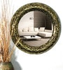 Multicolour Glass and MDF Crackle Wall Mirror by Venetian Design