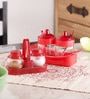 Herevin Venezia Bow Set - 2 Sauce Spice Jars & 2 Bow Spice Shakers In A Rack