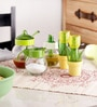 Herevin Venezia Tulipa Set - 2 Pepper Shakers & Liquid & Sugar Dispenser & Sauce Spice Jar
